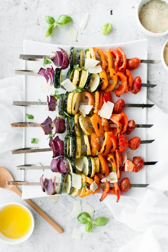 Parmesan Vegetable Skewers