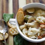 Crockpot Chicken Tortellini Soup
