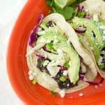 Black Bean, Lime, and Feta Tacos