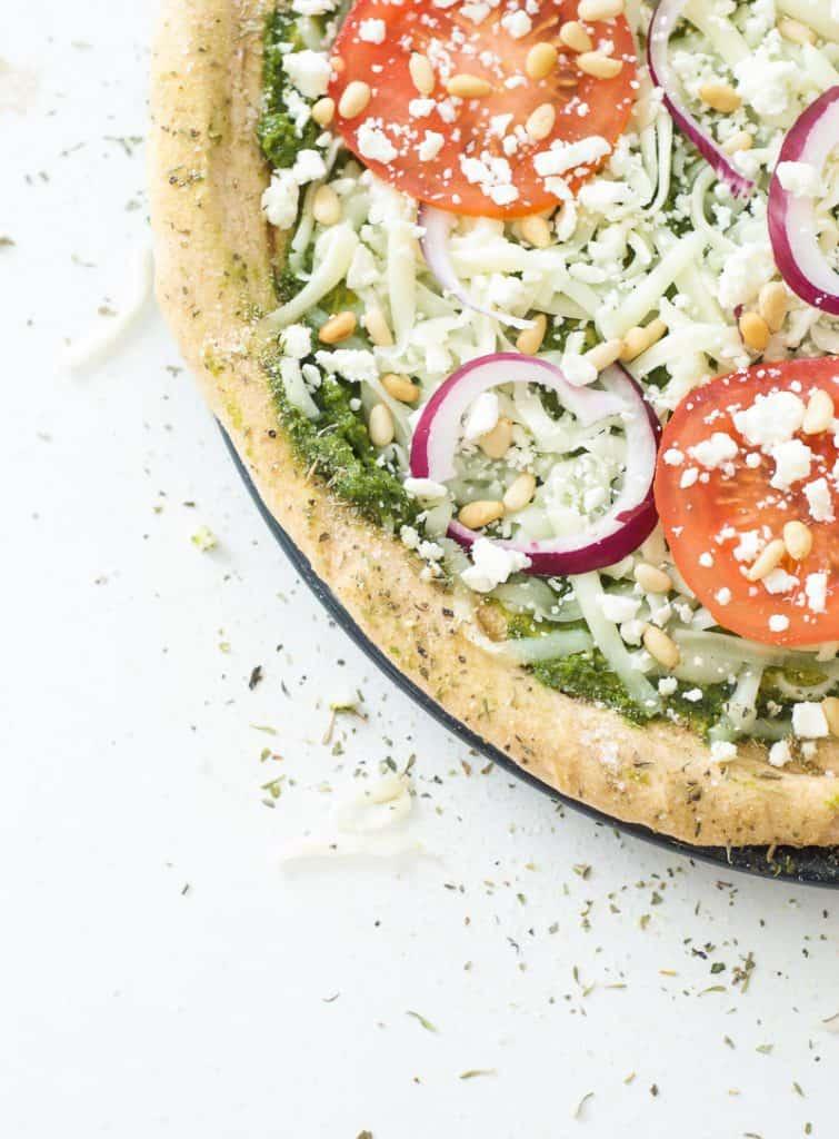 Greek Pesto Pizza-3