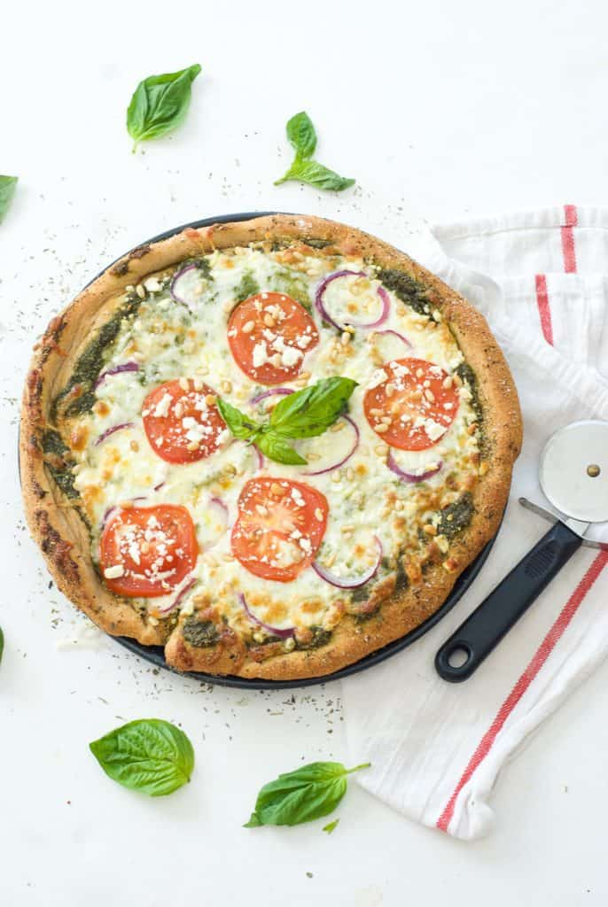 Greek Pesto Pizza-4