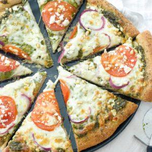 Greek Pesto Pizza