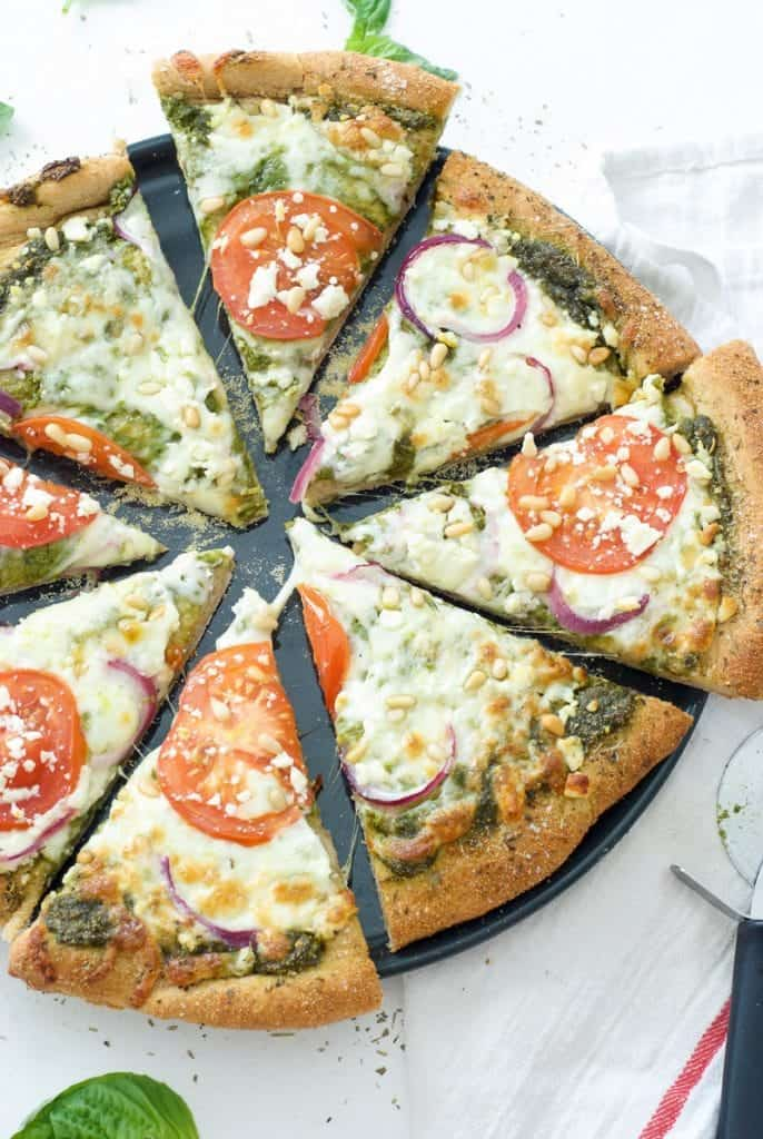 Greek Pesto Pizza