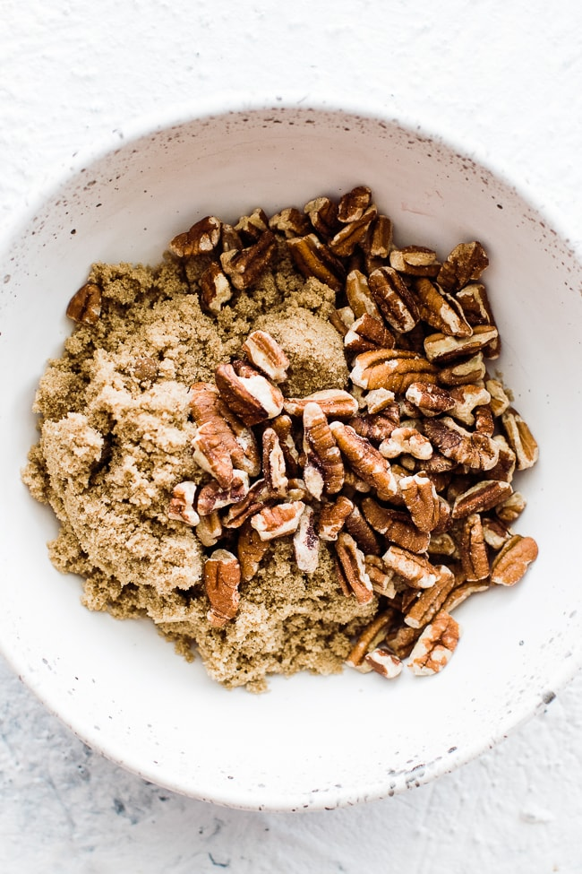 brown sugar and pecans in a bowl