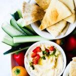 Healthy Hummus Recipe featured by popular foodie blog, Oh So Delicioso
