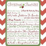 Christmas Checklist {Free Printable}