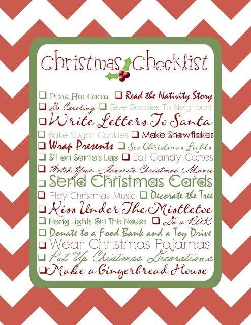 Christmas Checklist {Free Printable}