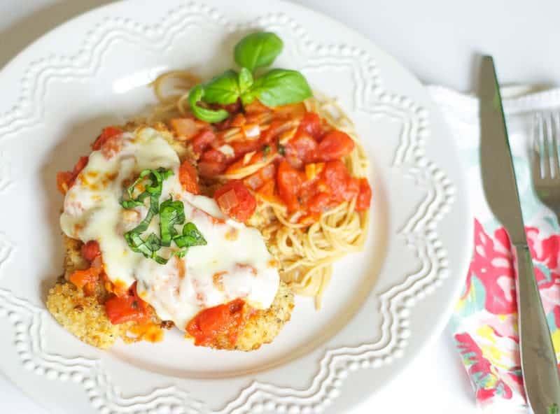 Chicken Basil Parmigiana