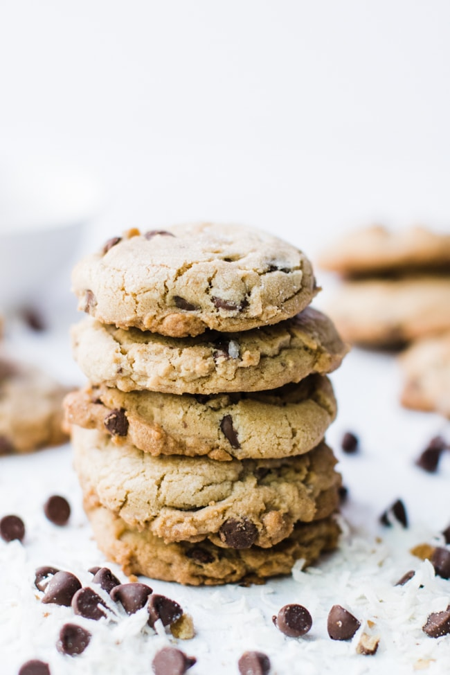 cookies stacked high