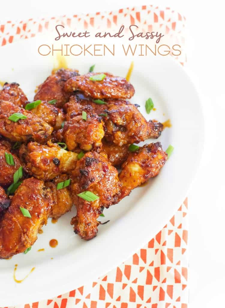 Sweet and Sassy Chicken Wings