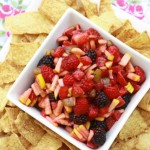 Sweet Fruit Salsa with Cinnamon Sugar Chips