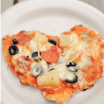 Be Still My Heart pizzas and Fruit Kabobs