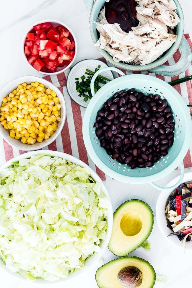 bbq chicken salad cpk ingredients