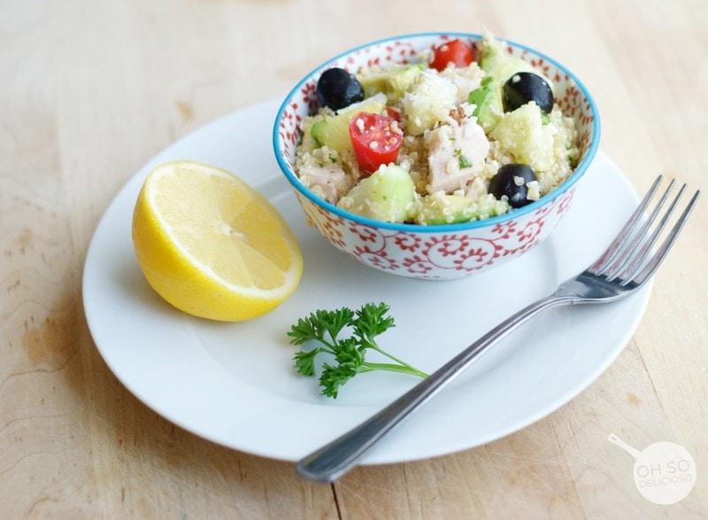 Lemon Albacore Quinoa Salad