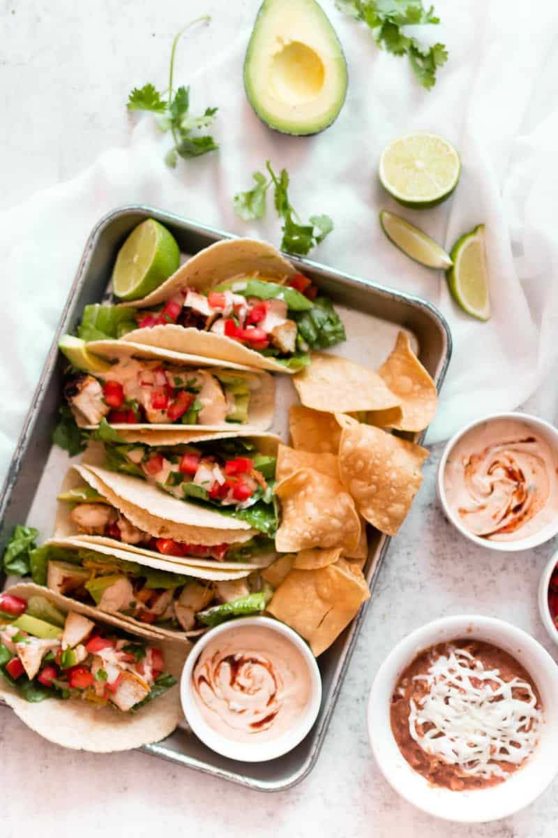 Grilled Creamy Chipotle Tacos