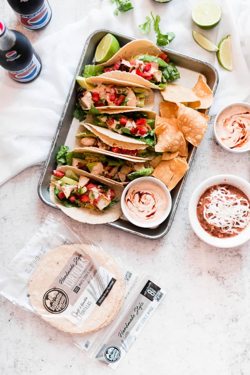 Rubios Copycat - Grilled Creamy Chipotle Tacos | homemade taco recipes | easy taco recipes | chicken taco recipe | chipotle sauce recipe | how to make homemade tacos | how to make chipotle sauce | homemade Mexican recipes || Oh So Delicioso