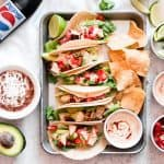 Grilled Creamy Chipotle Tacos // Rubio's Copycat