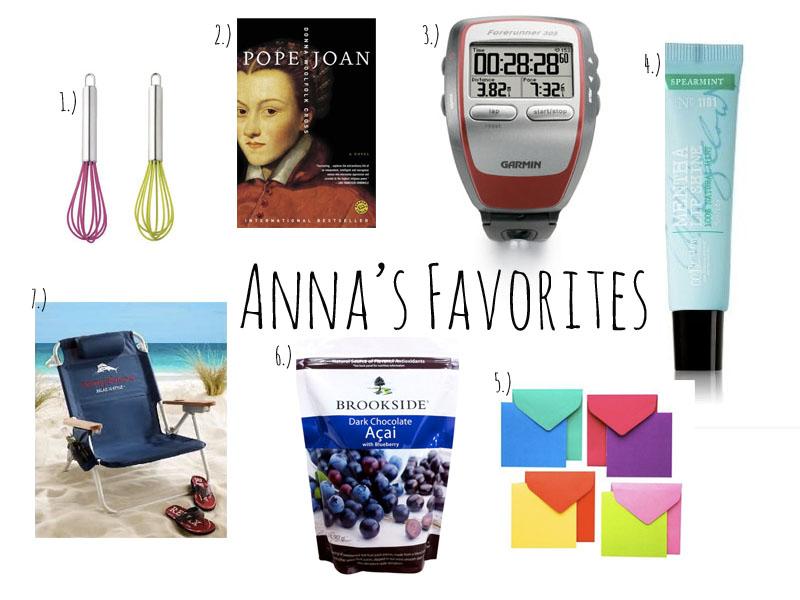 Anna's Favorites