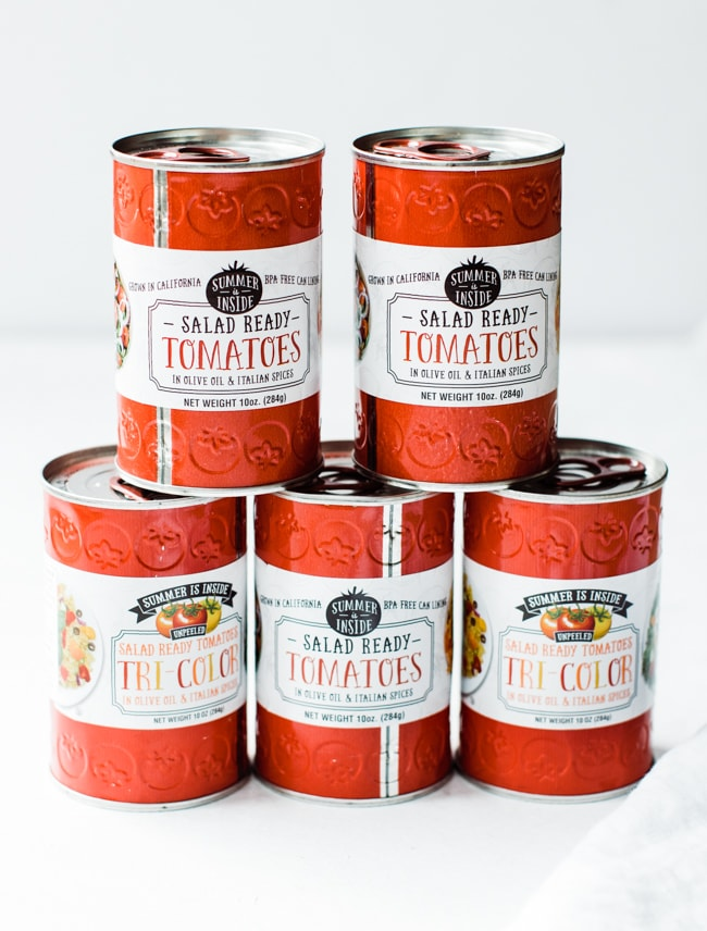 cans of tomatoes