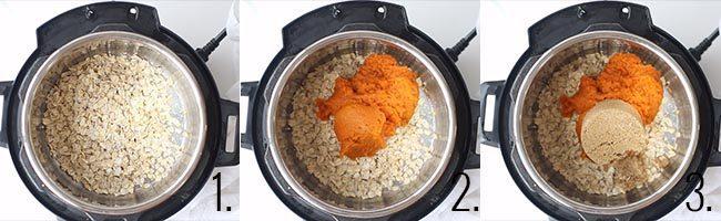 Pumpkin Pie Oatmeal process shots.