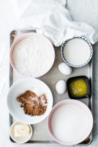ingredients in separate bowls