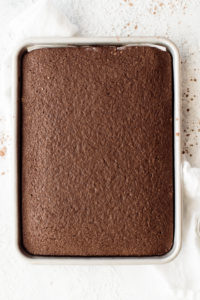 cooked sheet cake without frosting