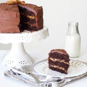 Cinnamon Salted Caramel Chocolate Cake