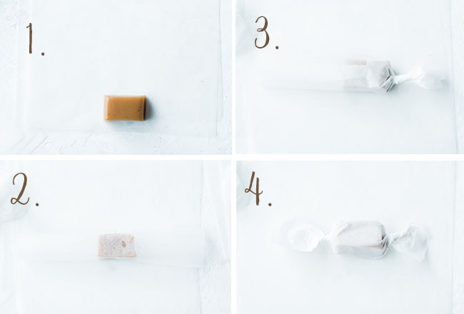 how to wrap caramels
