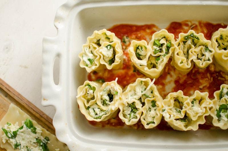 Lasagna Heart Roll-Ups