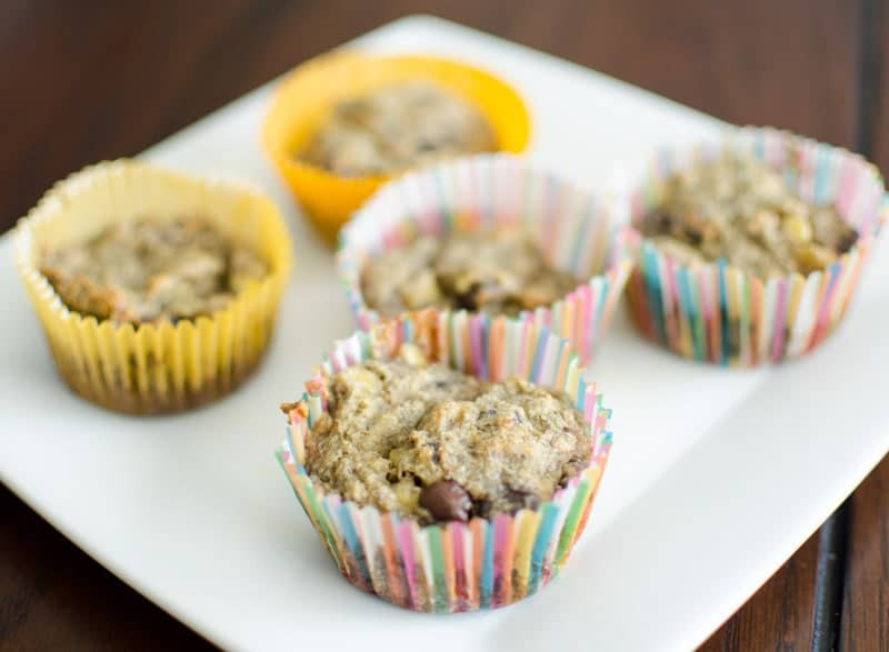 Banana Oatmeal Chocolate Chip Muffins // Healthy Mama Series – Robin