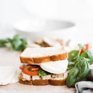 uncooked pesto sandwich