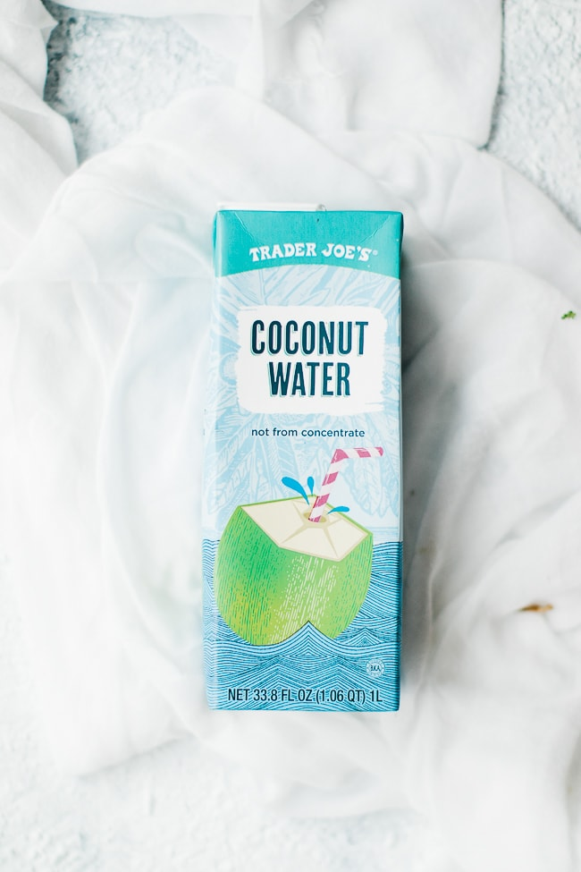 bottle of coconut water