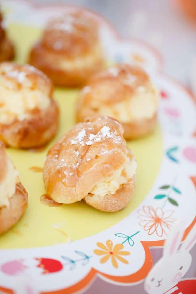 Caramel Vanilla Cream Puffs