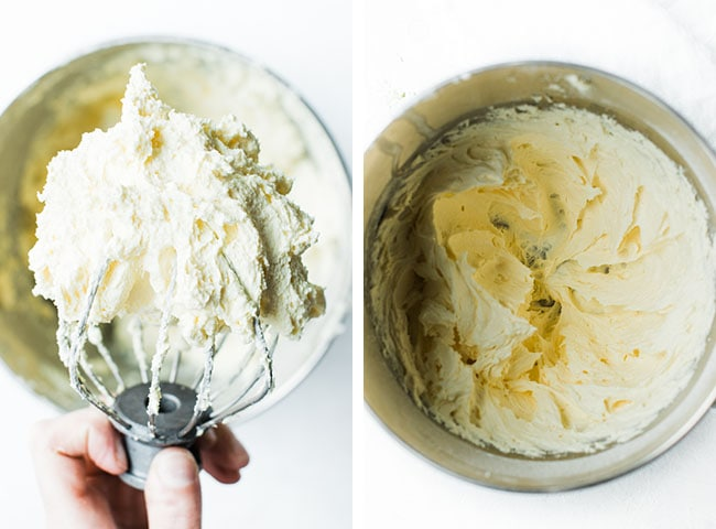 Picture of textured cream on whisk and in bowl