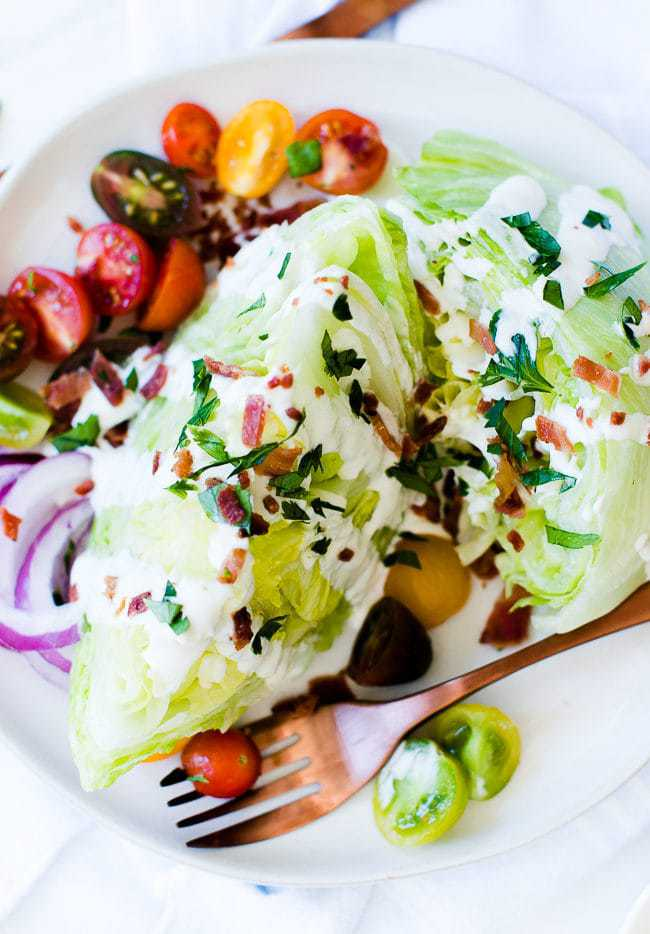 Wedge Salad and Blue Cheese Dressing