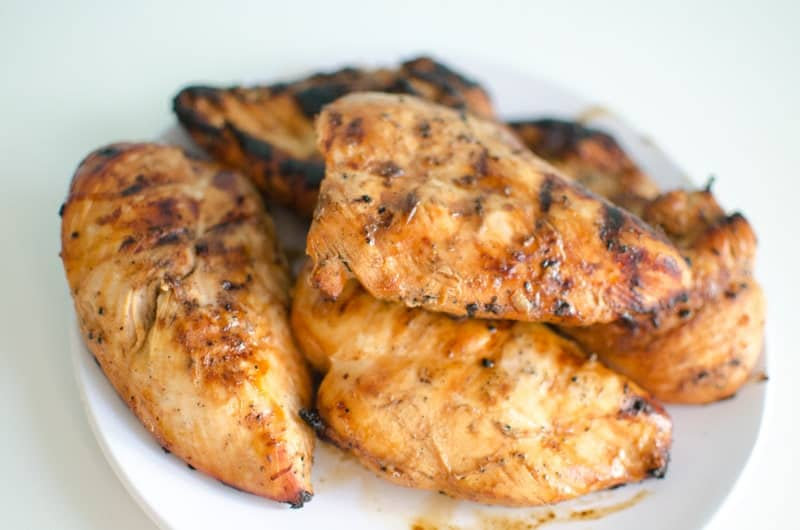 Grilled Asian Chicken on plate