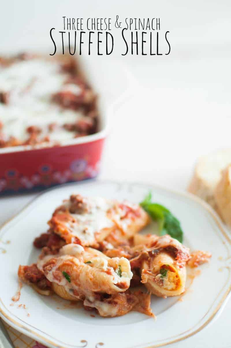Three Cheese and Spinach Stuffed Shells