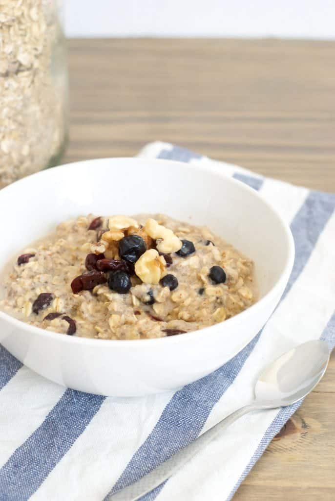 Cranberry, Almond, and Walnut Oatmeal Mix