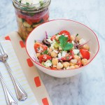 Mason Jar Greek Salad with Chickpeas