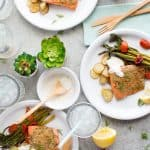 Herb Crusted Salmon Sheet Pan Meal