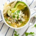 Salsa Verde Chicken and Kale Soup