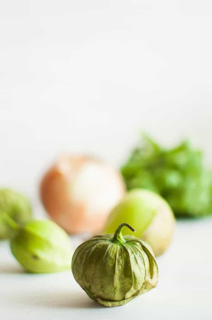 close up shot of tomatillo