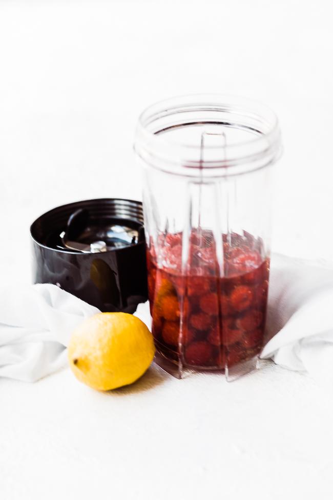 Pear pomegranate salad dressing process.