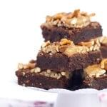 Caramel Pretzel Pecan Brownies