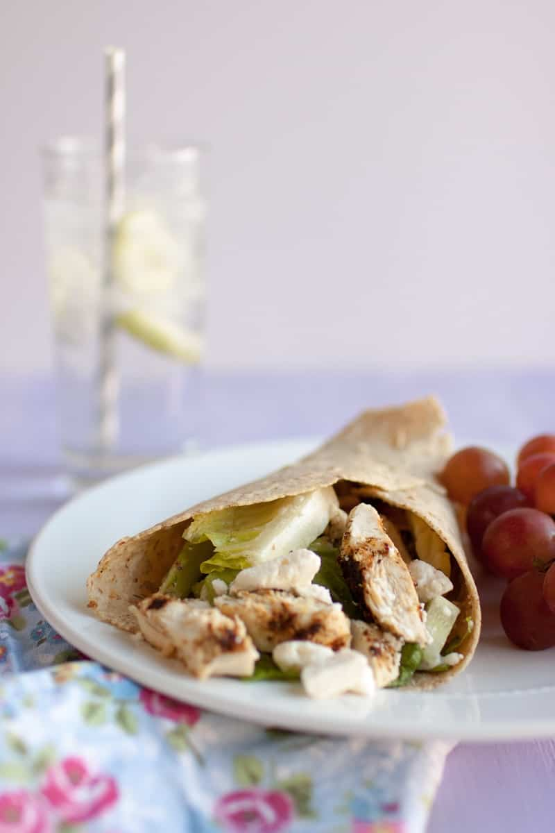 Chicken Feta Wrap // On Food and Resolutions // Weight Watchers Journey