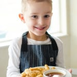 Baked Crispy Chicken Nuggets // Hedley and Bennett Apron Giveaway!