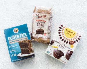 3 gluten free cake mixes