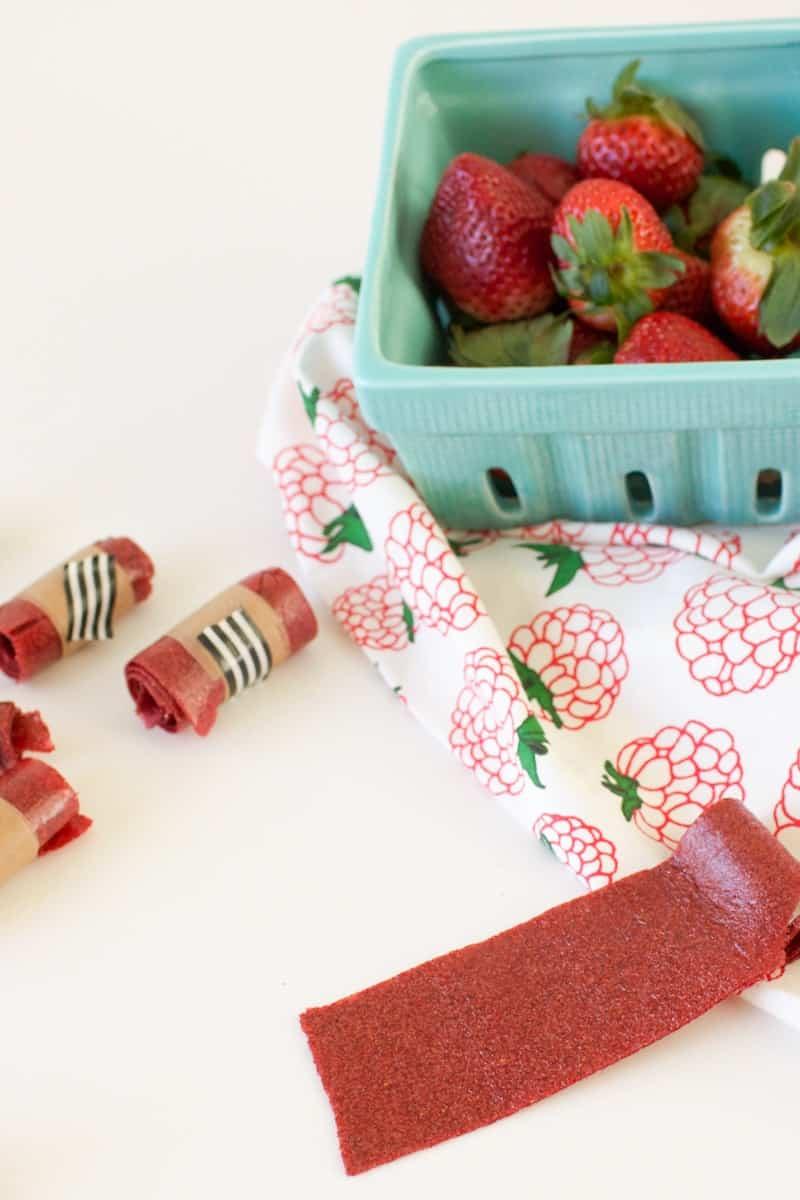Strawberry Vanilla Fruit Leather