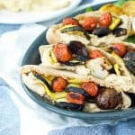 Grilled Veggie and Hummus Pitas