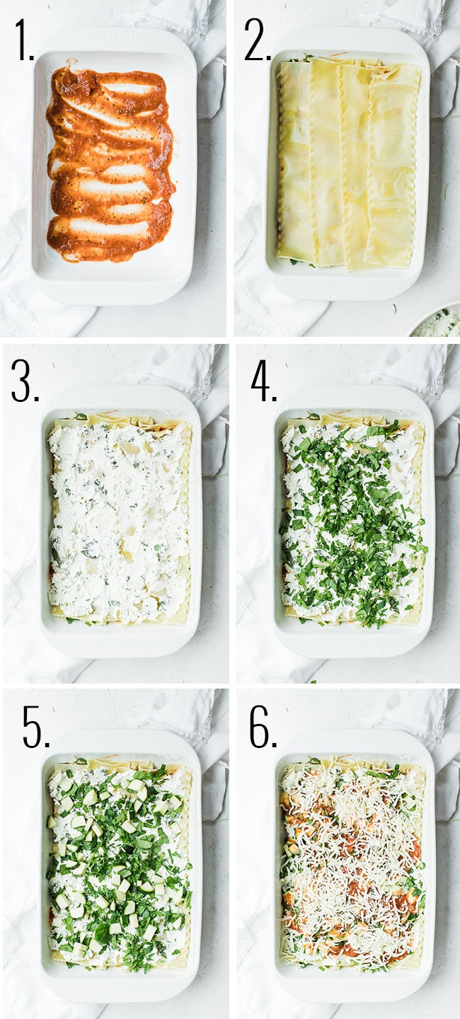 step how to layer lasagna